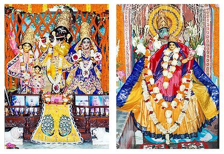 Radha Krishna, Nimai and Narasimha with Lakshmi - Set 2 Photo Prints