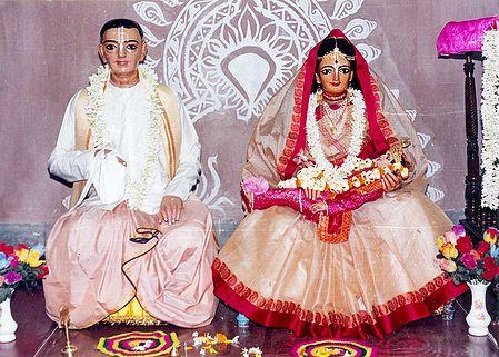 Parents of Sri Chaitanyadev