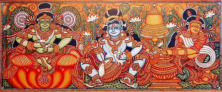 Krishna, Balaram and Yashoda