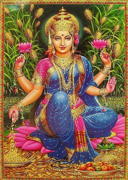 Dhanya Lakshmi (One of Ashta-Lakshmis) - Goddess of Food and Nourishment