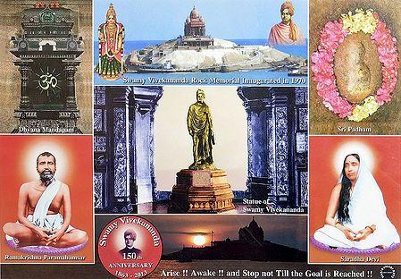 Swamy Vivekananda at the Rock Temple of Kanyakumari - Laminated Poster