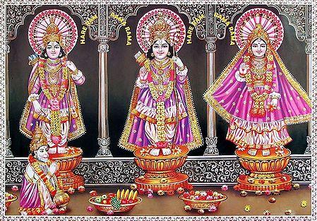 Lord Rama with Sita and Lakshmana