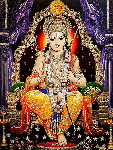 Lord Rama - Glitter Poster