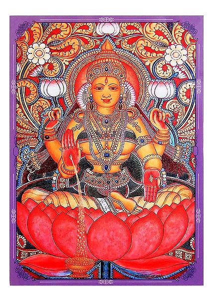 Lakshmi and Vishnu - Double Sided Laminated Poster