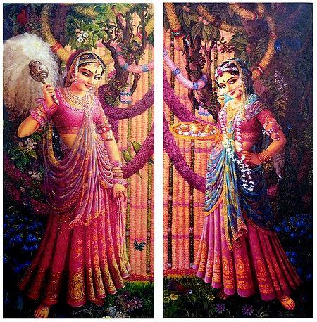 Radha Waiting for Krishna - Set of 2 Posters