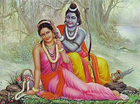 Rama and Sita in Exile