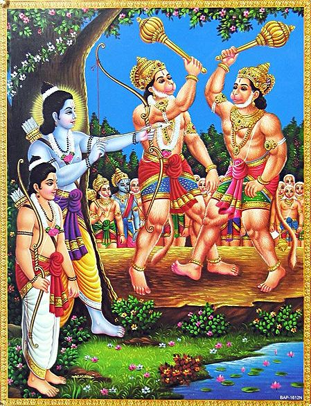 Rama Helps helps Sugreeva to Defeat Bali