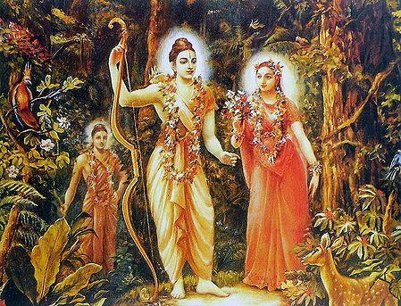 Exile of Rama, Sita and Lakshmana in Jungle