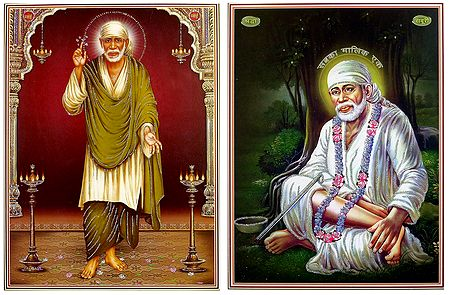 Shirdi Sai Baba - Set of 2 Glitter Posters