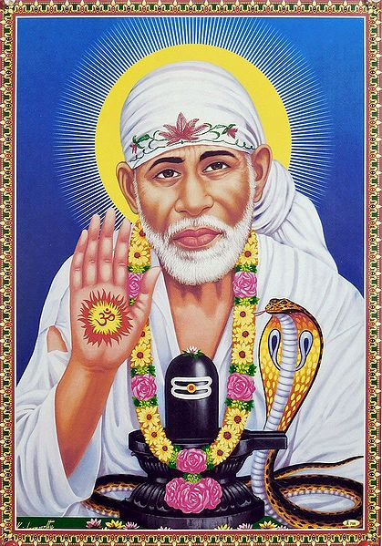 Shirdi Sai Baba with Shivalinga