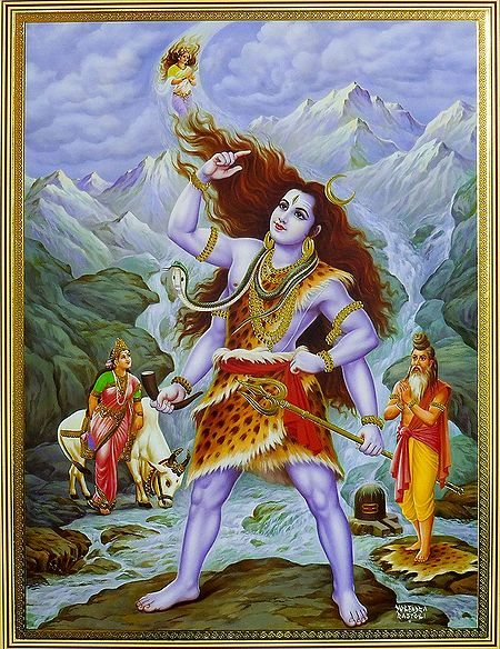 Ganga Descending on Shiva's Hair Locks