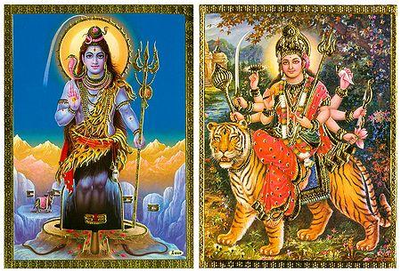 Shiva and Bhagawati - Set of 2 Posters