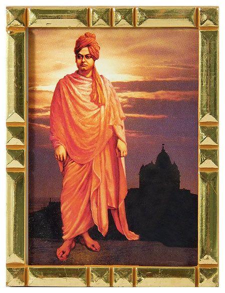 Swami Vivekananda - Framed Table Top Picture