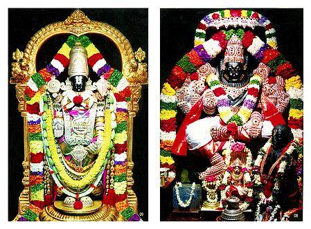 Vishnu and Narasimha Avatar - Set of 2 Photo Prints