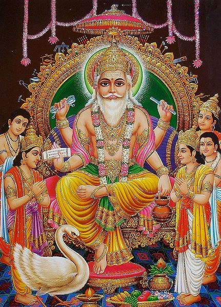 Vishwakarma - The Architect of Heaven - Glitter Poster