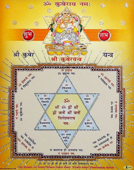 Sri Kuber Yantra - Glitter Poster