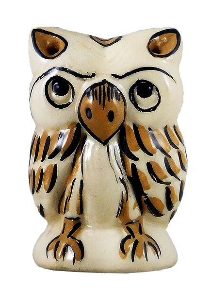 Ceramic Owl Incense Burner with 4 Holes