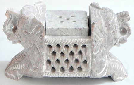 Intricately Stone Carved Incense Stick Holder