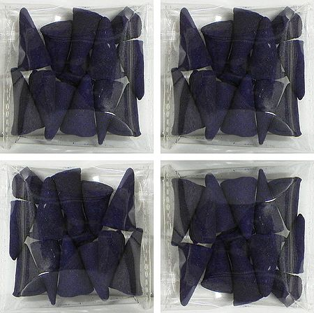 Set of 4 Incense Cone Packets with Lavender Fragrances