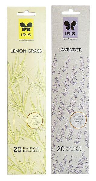 Set of 2 Incense Stick Packets with Lavender and Lemon Grass Fragrances