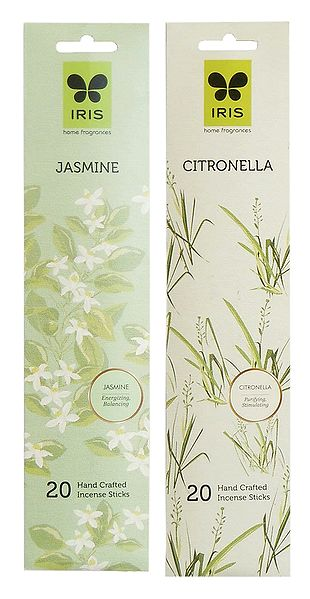 Set of 2 Incense Stick Packets with Jasmine and Citronella Fragrances