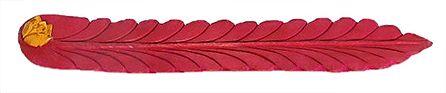 Dark Saffron Incense Stick Holder with a Rose