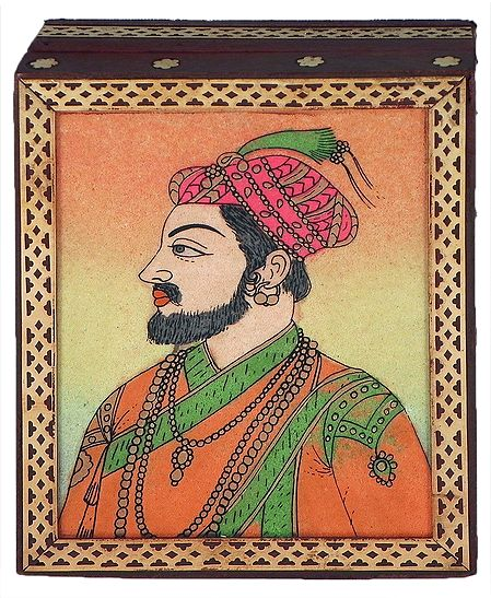 Shahjahan - Jewelry Box with Gemstone Painting