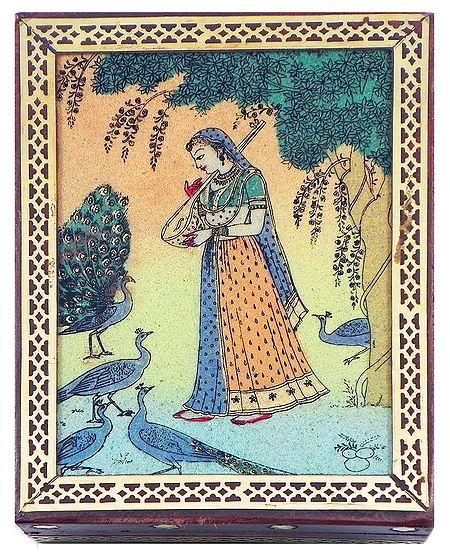 Ragini Kakubha - Jewelry Box with Gemstone Painting