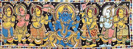 Ganesha with Other Gods