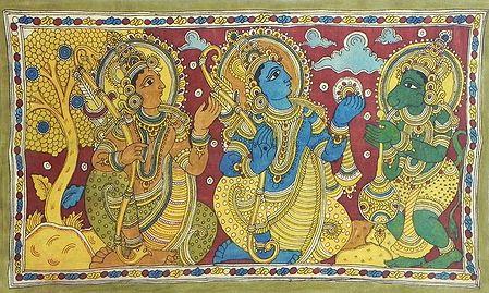 Rama gives Hanuman His Ring to Take to Lanka for Sita