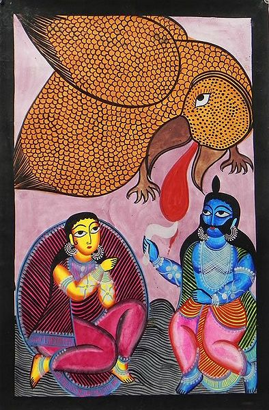 Jatayu Battles with Ravana to Rescue Sita