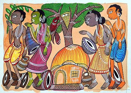 Tribal Festival - Kalighat Painting