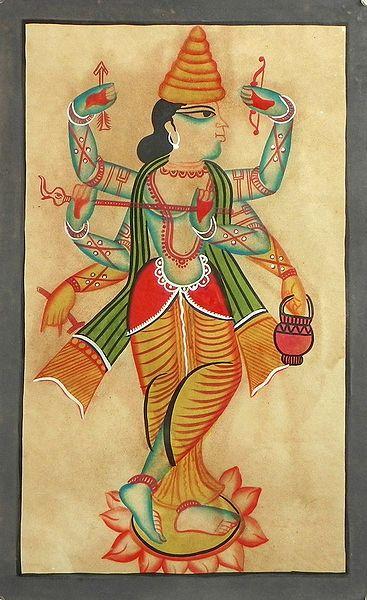 A Composite Image of Sri Rama, Sri Krishna and Chaitanya Mahaprabhu