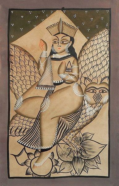 Lakshmi with Her Vahana, the Owl