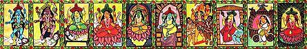 Ten Mahavidya - the Ten Great Cosmic Powers or Goddesses from the Tantric Tradition