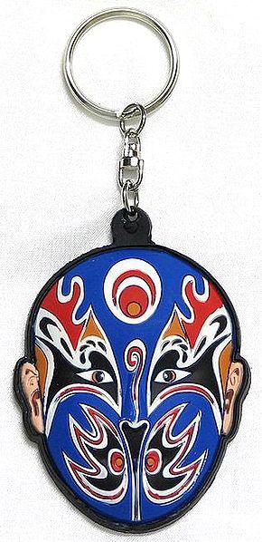 Chinese Opera Mask Key Chain