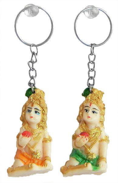 Set of 2 Bal Gopal Key Rings