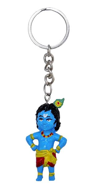 PVC Key Chain with Krishna