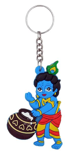 PVC Key Chain with Makhan Chor Krishna