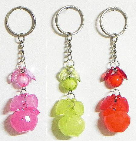 Fruits - Set of 3 Key Chains