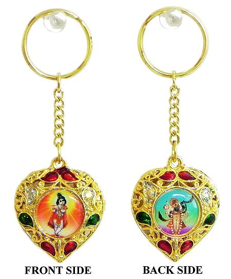 Double Sided Key Ring - Krishna and Nathdwara