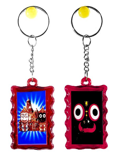 Double Sided Jagannath Key Ring