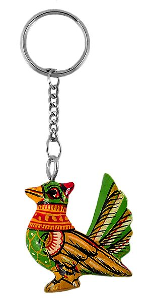 Wooden Bird Key Chain