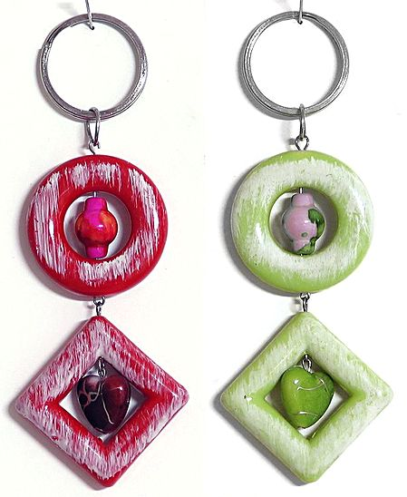Set of 2 Acrylic Key Chain