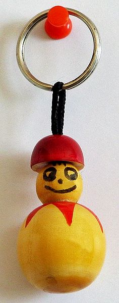 Key Chain with Wooden Doll