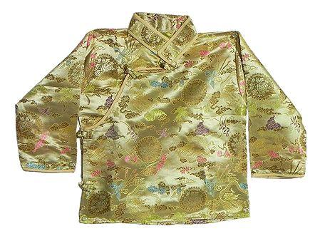 Light Green Woven Brocade Silk Finish Kurta