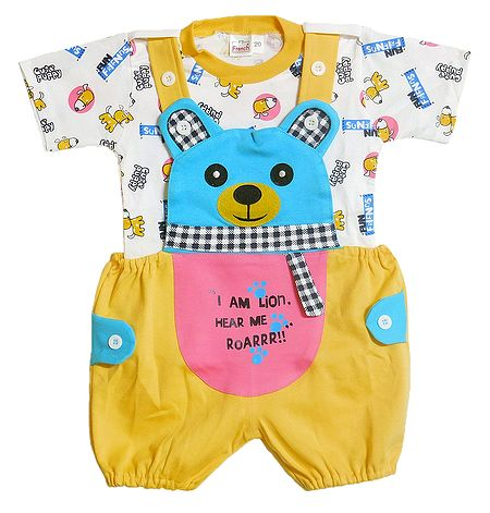 Teddy Dungaree Set for Baby Boy