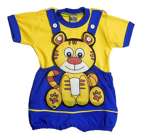 Cat Dungaree Set for Baby Boy