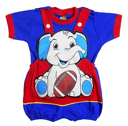 Jumbo the Elephant Dungaree Set for Baby Boys