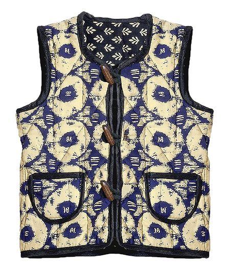 Reversible Sleeveless Quilt Jacket with Pocket